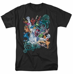 Green Lantern t-shirt Lanterns Unite mens black