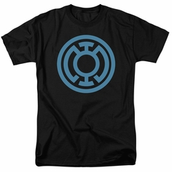 Green Lantern t-shirt Lt Blue Emblem mens black