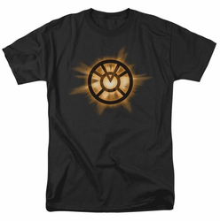 Green Lantern t-shirt Orange glow mens black