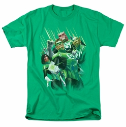 Green Lantern t-shirt Power Of The Rings mens kelly green