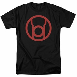 Green Lantern t-shirt Red Emblem mens black