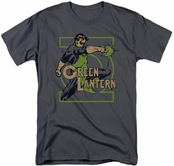 Green Lantern t-shirt Ring Power mens charcoal