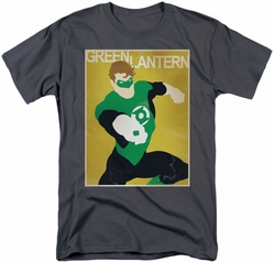 Green Lantern t-shirt Simple Poster mens charcoal