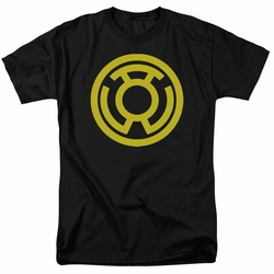Green Lantern t-shirt Yellow Emblem mens black