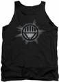 Green Lantern tank top Black Glow mens black