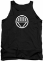 Green Lantern tank top Black Lantern Logo mens black