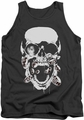 Green Lantern tank top Black Lantern Skull mens charcoal