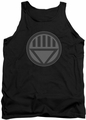 Green Lantern tank top Black Symbol mens black