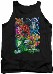 Green Lantern tank top Blackest Group mens black