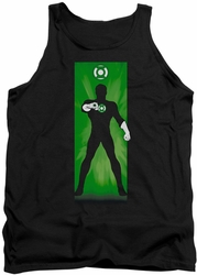 Green Lantern tank top Block mens black