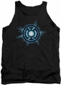 Green Lantern tank top Blue Glow mens black