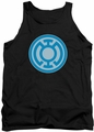 Green Lantern tank top Blue Symbol mens black