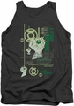 Green Lantern tank top Core Strength mens charcoal