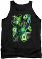 Green Lantern tank top Earth Sector mens black