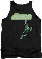 Green Lantern tank top Energy Construct Logo mens black