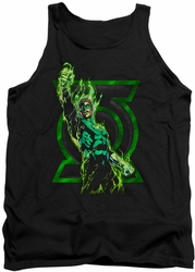 Green Lantern tank top Fully Charged mens black