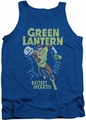 Green Lantern tank top Fully Charged mens royal blue