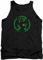 Green Lantern tank top Gl Symbol Knockout mens black