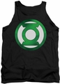 Green Lantern tank top Green Chrome Logo mens black