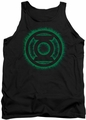 Green Lantern tank top Green Flame Logo mens black