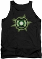 Green Lantern tank top Green Glow mens black