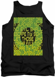 Green Lantern tank top Green Lantern Oath mens black