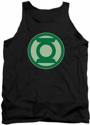Green Lantern tank top Green Symbol mens black