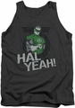 Green Lantern tank top Hal Yeah mens charcoal