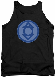 Green Lantern tank top Indigo Symbol mens black