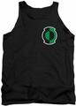 Green Lantern tank top Kyle Logo mens black