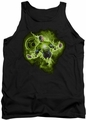 Green Lantern tank top Lantern Nebula mens black