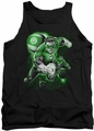 Green Lantern tank top Lantern Planet mens black
