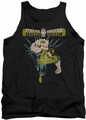 Green Lantern tank top Powerful mens black