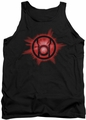 Green Lantern tank top Red Glow mens black