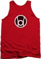 Green Lantern tank top Red Lantern Logo mens red