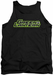 Green Lantern tank top Scribble Title mens black