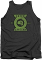 Green Lantern tank top Section mens charcoal