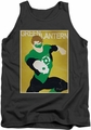 Green Lantern tank top Simple Poster mens charcoal