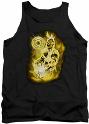 Green Lantern tank top Sinestro Nebula mens black