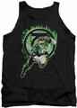 Green Lantern tank top Space Cop mens black