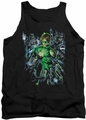 Green Lantern tank top Surrounded By Death mens black