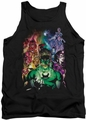 Green Lantern tank top The New Guardians mens black