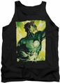Green Lantern tank top Up Up mens black