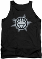 Green Lantern tank top White Glow mens black