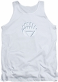 Green Lantern tank top White Lantern Logo mens white
