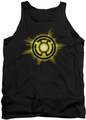 Green Lantern tank top Yellow Glow Sinestro  mens black
