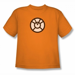 Green Lantern youth teen t-shirt Agent Orange orange