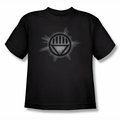 Green Lantern youth teen t-shirt Black Glow black