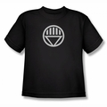 Green Lantern youth teen t-shirt Black Lantern Logo black
