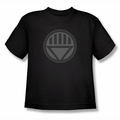 Green Lantern youth teen t-shirt Black Symbol black